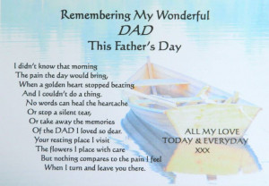 Missing Dad In Heaven Quotes Father's day for those in