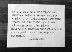 callig1_uncial1.png (960×700) #sarah #kay #poetry #quote