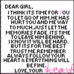 Dear girl, Love your heart