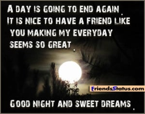 good night friends quotes