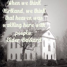 in regards to the Mormon/LDS church in Kirtland, Ohio. Love the temple ...
