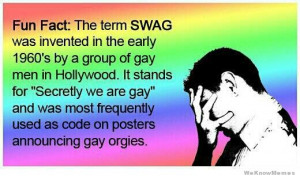 Here's a nice fun fact about the term SWAG