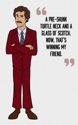 ... tossed ron burgundy quotes anchorman quotes best ron burgundy quotes