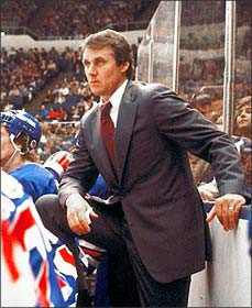 Herb Brooks, elected to the Hockey Hall of Fame in 2006.