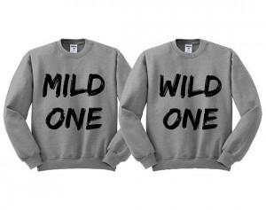 Grey Crewneck Mild One Wild One Best Friends Sweatshirt Sweater Jumper ...