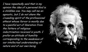 Albert Einstein on the idea of a personal god