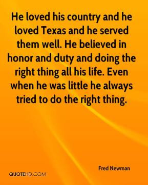 Fred Newman - He loved his country and he loved Texas and he served ...