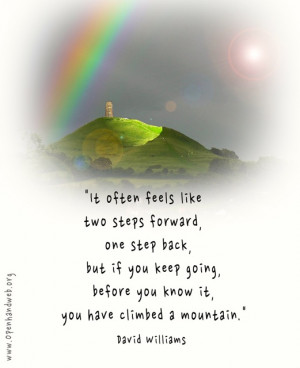One step at a time quote
