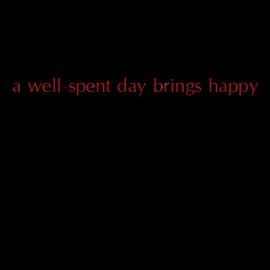 Well-Spent Day Brings Happy Sleep - two colors - wall quotes decal