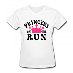 Regular Womens T Shirt Princess on the run Personalize Jokes Quotes ...