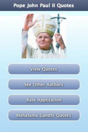 View bigger - Pope John Paul II Quotes for Android screenshot