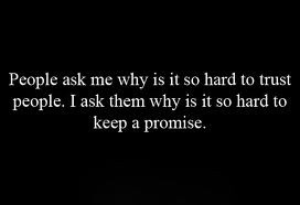 Promises are meant to be kept.