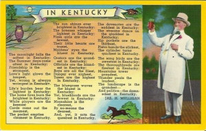 Vintage Postcard - In Kentucky - Poem by Jas. H. Mulligan - 1958