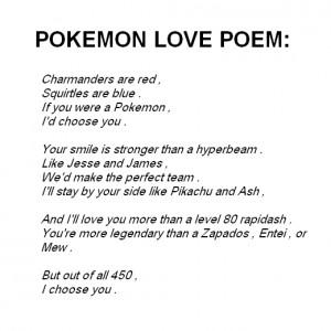 Fall Love Pokemon Poem Quotes