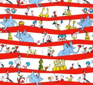 ... Seuss! by Dr. Seuss Enterprises : Cotton Novelty Print Fabric