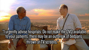 Morgan Freeman and Jack Nicholson play 2 old codgers crossing things ...