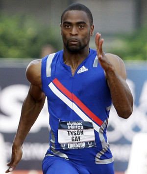 Tyson Gay, American sprinter, saying his hamstring is better and that ...