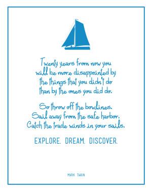 Mark Twain Graduation Quote Free Printable