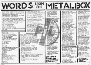 metal box december 1979 john lydon keith levene interview plus metal ...