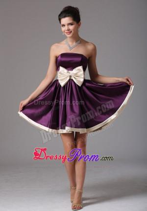 short dark purple prom dresses