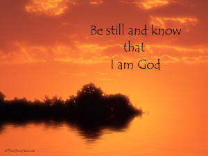Christian Quote: Be Still Wallpaper Background