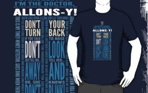 ... Portfolio › Doctor Who TARDIS Quotes shirt - Tenth Doctor Version
