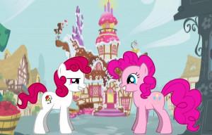 Pinkie pie and Funny star MY OC pony by Hikarisah