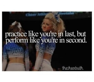 Cheerleading quotes, inspiring, motivational, sayings, practice