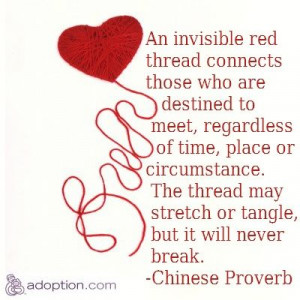 an invisible red thread connects those who are destined to meet - it ...