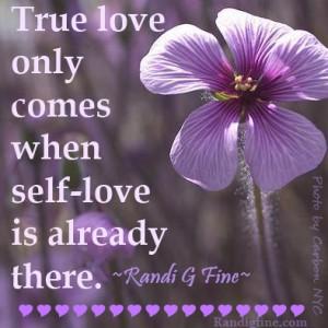 Self Love True Love Picture Quote