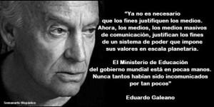 Eduardo Galeano: Los medios de comunicación
