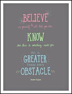 , Believe in yourself, inspirational quotes, tween room decor, teen ...