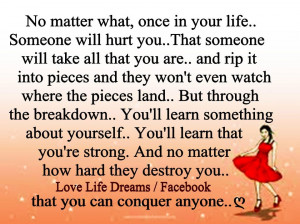 No matter what, once in your life...