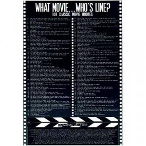 101 Classic Movie Quotes - Poster
