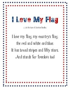 cute poem I found about the US flag. Works great when teaching about ...