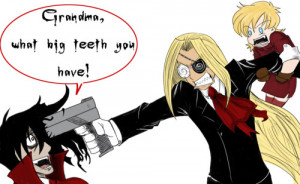 love to irritate Integra. I think she likes it too. As u can see.