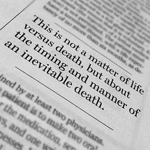 Pull quote from an article published during the Massachusetts Death ...