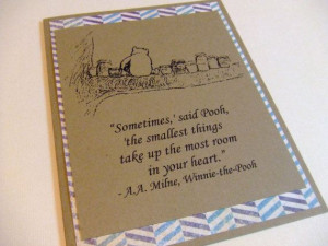 ... Winnie the Pooh Quote Note Card #winniethepooh #honey #chevron #baby