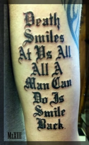 Death Quote Tattoo by MzXIII