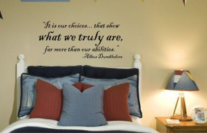 Harry Potter Quote by Dumbledore Vinyl Wall Decal by bushcreative ...
