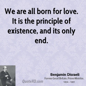 Benjamin Disraeli Love Quotes