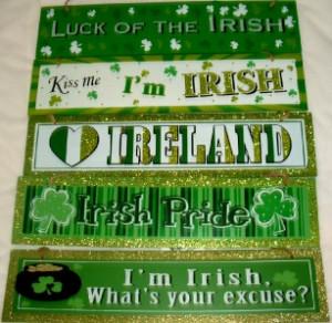 about Home Decor ST PATRICKS DAY IRISH FUNNY CUTE SAYINGS Glitter Wall ...