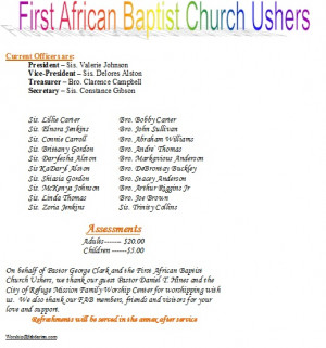 usher day poems for church | just b.CAUSE