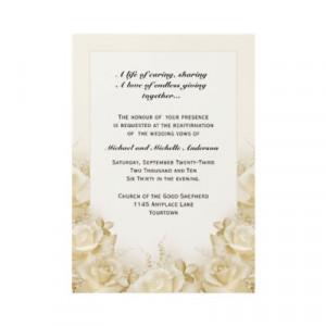 wedding+vows_sepia_roses_wedding_vow_renewal_invitation ...