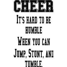 cheer all out or dont cheer at all