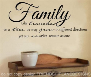 Like Branches Tree Family Vinyl Wall Quote Words Cal Lettering