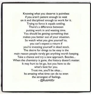 Feelings can set u up for failure