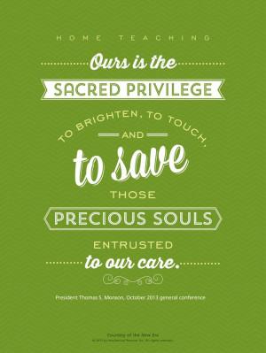 President Thomas S. Monson quote