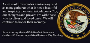 Attorney General Statement on the 20th Anniversary of the Oklahoma ...