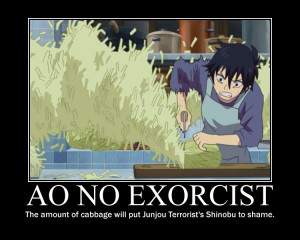 Tags: Anime, Ao no Exorcist, Okumura Rin, Cabbage